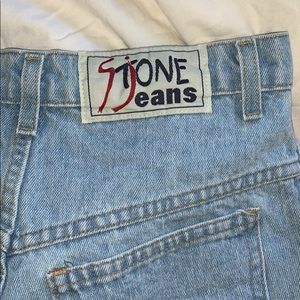 Stone jeans shorts